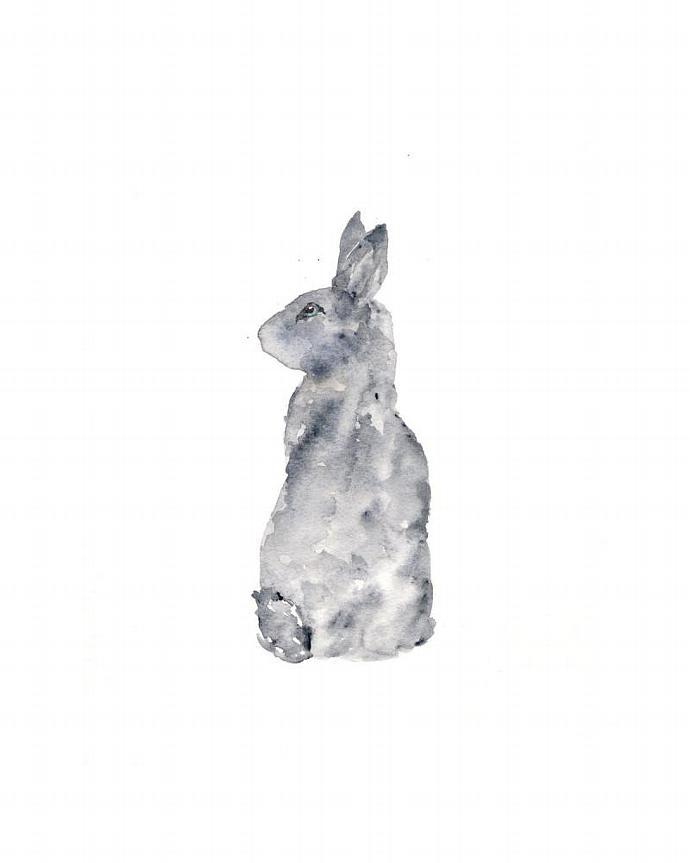 690x863 Rabbit Art, Rabbit Painting, Watercolor By Thimblesparrow On Zibbet