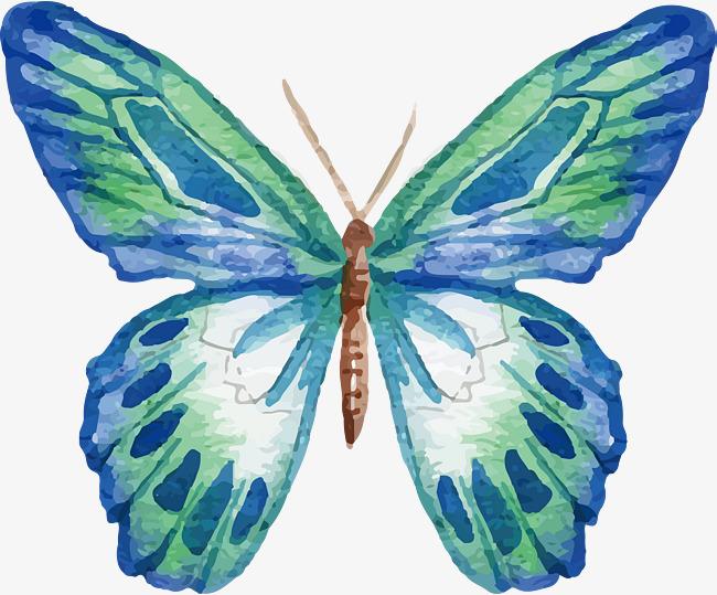650x539 Pattern Watercolor Butterfly, Butterfly, Pattern, Watercolor Png