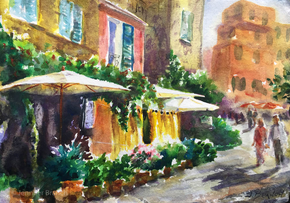 1000x699 Italian Cafe Painting Tutorial Watercolor Painting Tutorial