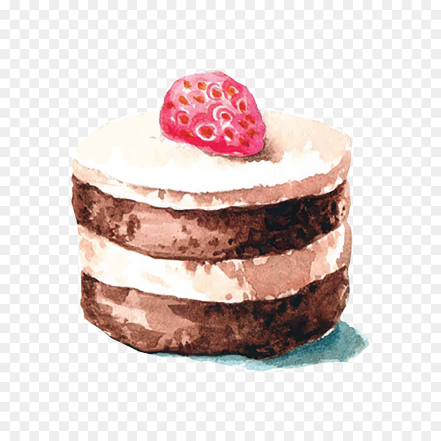 900x900 Icing Marble Cake Cupcake Watercolor Painting