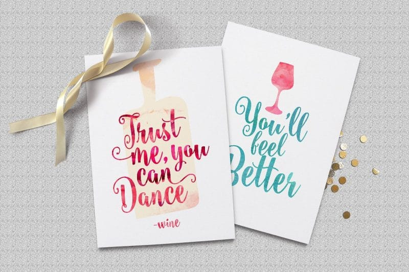 Watercolor Calligraphy Font