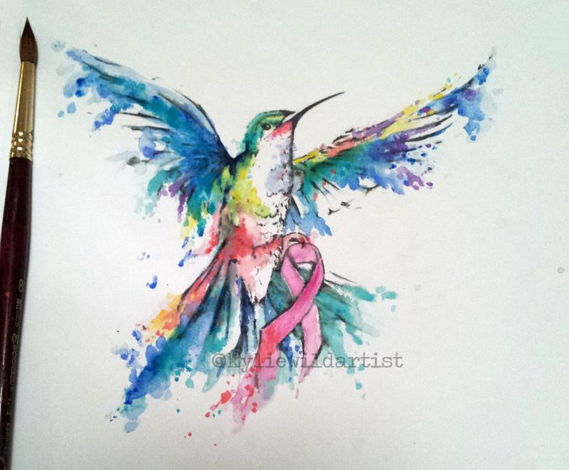 Watercolor Cancer Ribbon at GetDrawings.com | Free for personal use ...