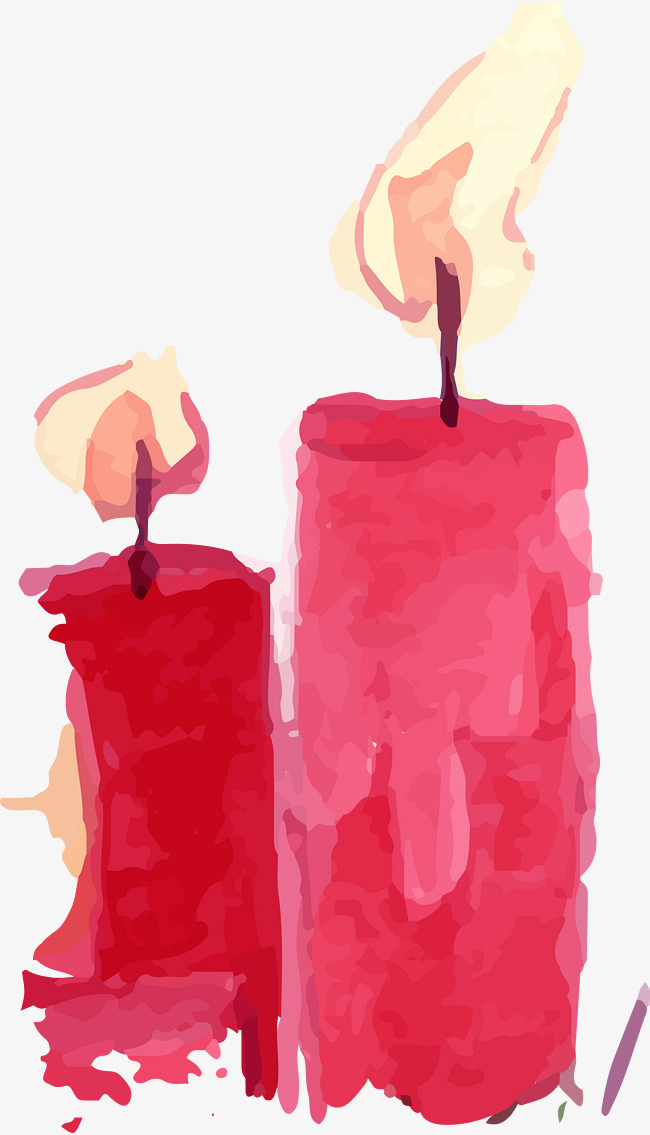 650x1135 Vector Red Water Color Candle, Water Vector, Color Vector, Candle