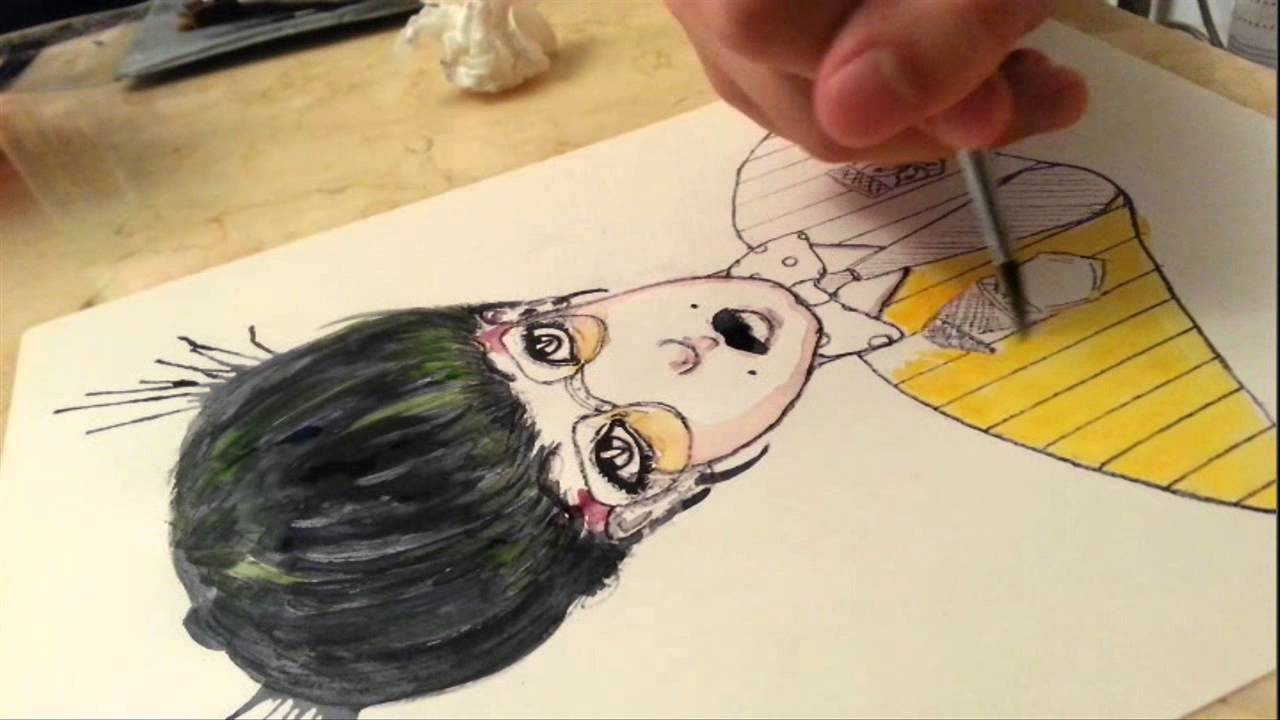 1280x720 Chi Chi Illustration Character Design With Watercolor Demo