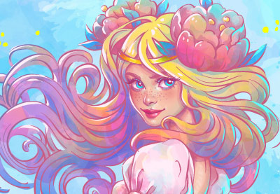 400x277 How To Create A Watercolor Mermaid Illustration In Adobe Illustrator