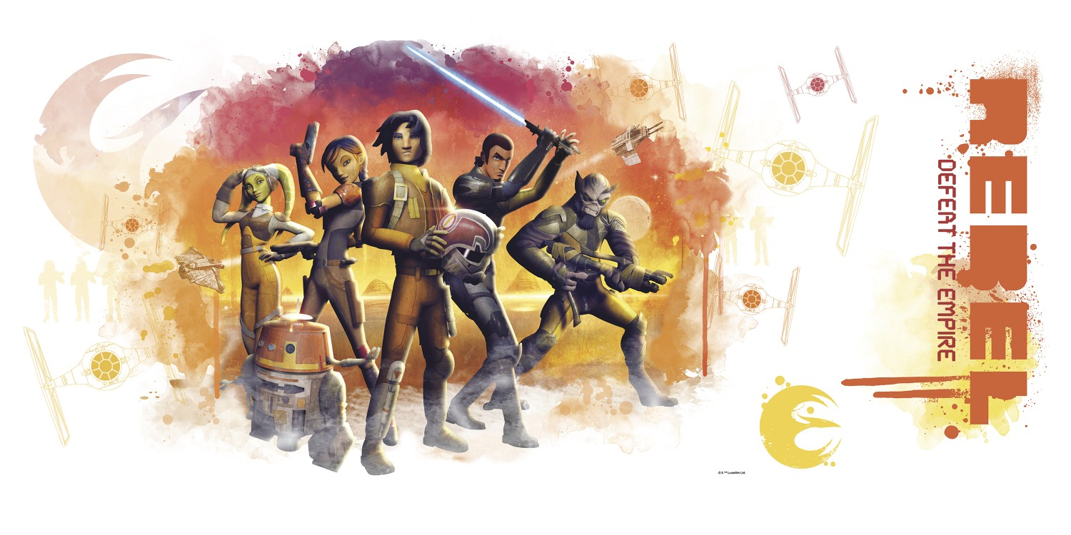 1500x750 Star Wars Rebels Watercolor Peel And Stick Giant Wall Graphix