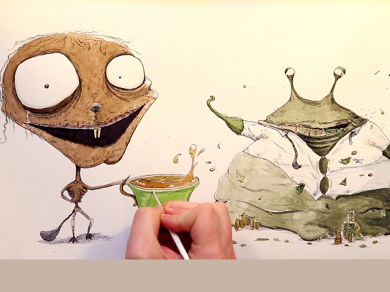 1280x960 Time Lapse Illustration Ink Amp Watercolour Characters