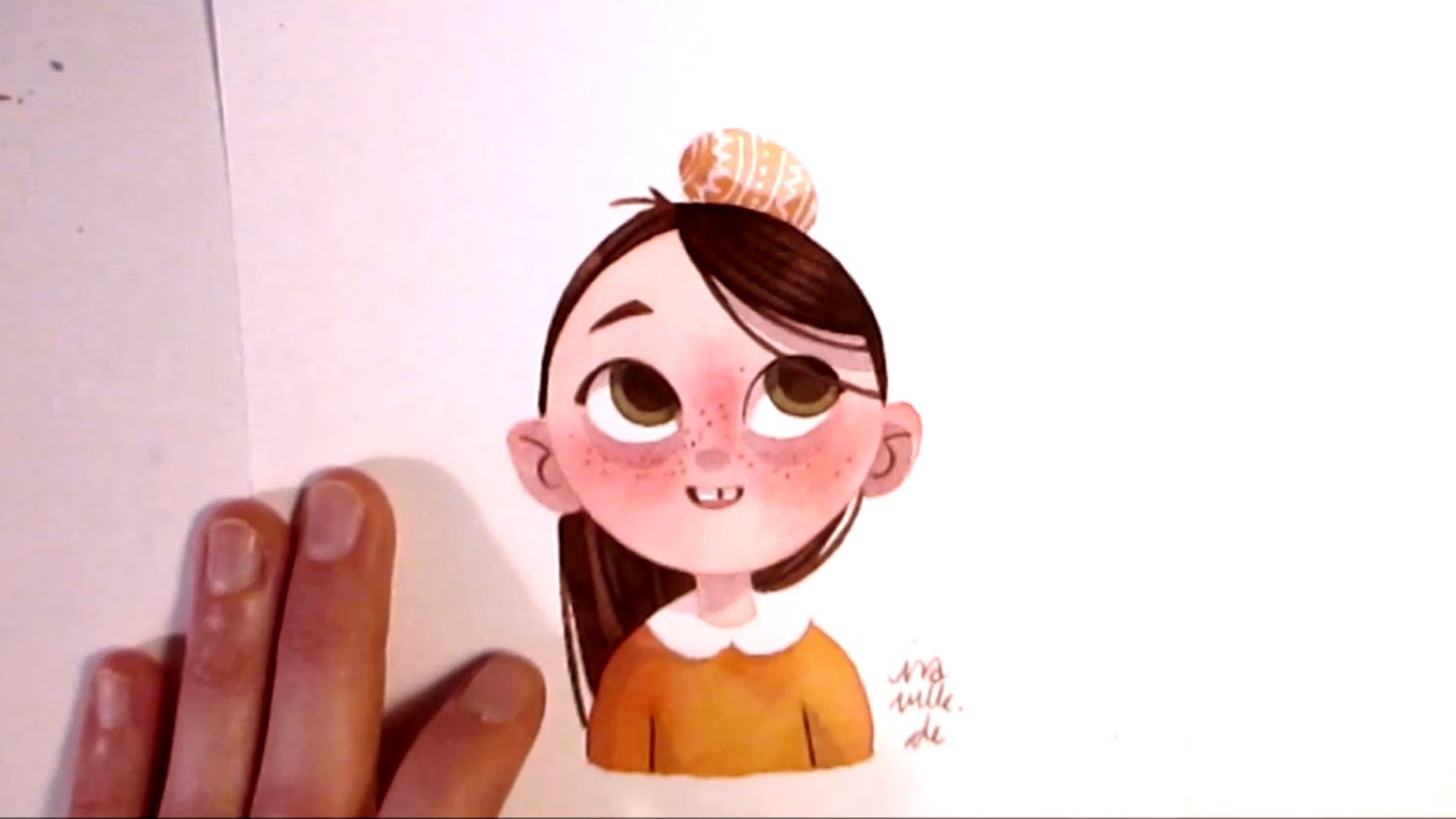 1461x822 Character Watercolor Illustration Experimenting With Simple Shapes