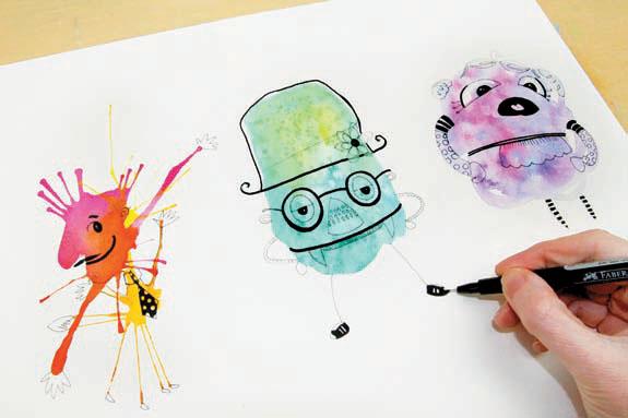 575x383 Watercolor Blob Characters Quarto Knows Blog
