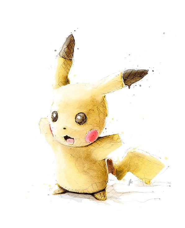 596x735 Lovely Watercolor Illustrations Of Popular Characters