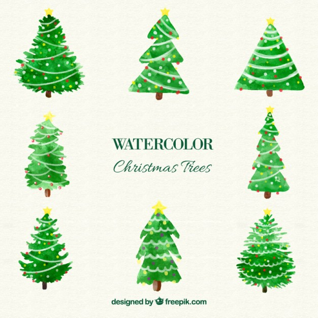 Watercolor Christmas Tree At Getdrawings Com Free For Personal Use