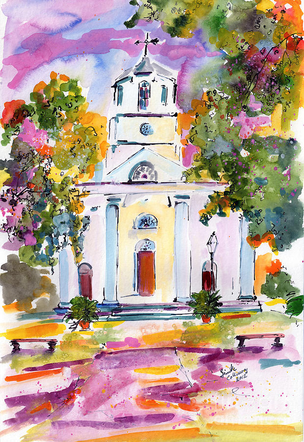 620x900 Second Presbyterian Church Charleston South Carolina Watercolor