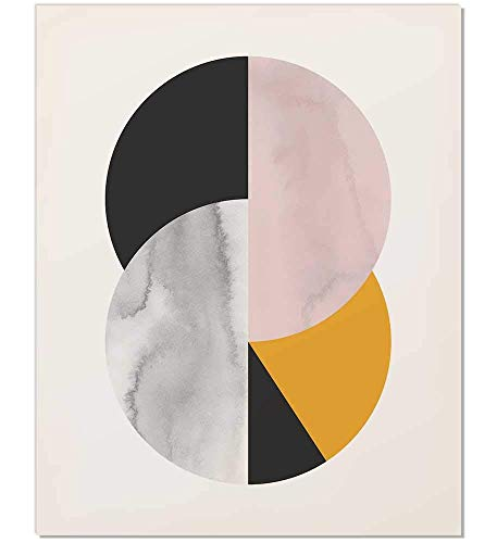 457x500 Abstract Circle, Mid Century Art Print, Mid Century