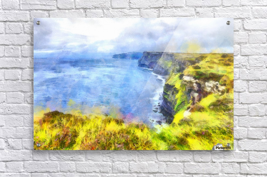 Watercolor Cliffs