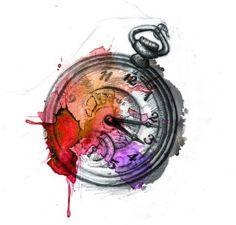 Watercolor Clock