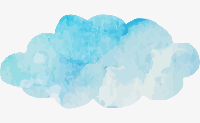 650x400 Watercolor Blue Clouds Vector, Cloud, Blue, Watercolor Png And