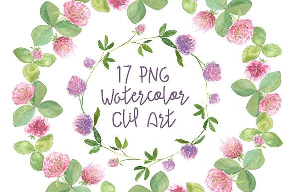 Watercolor Clover