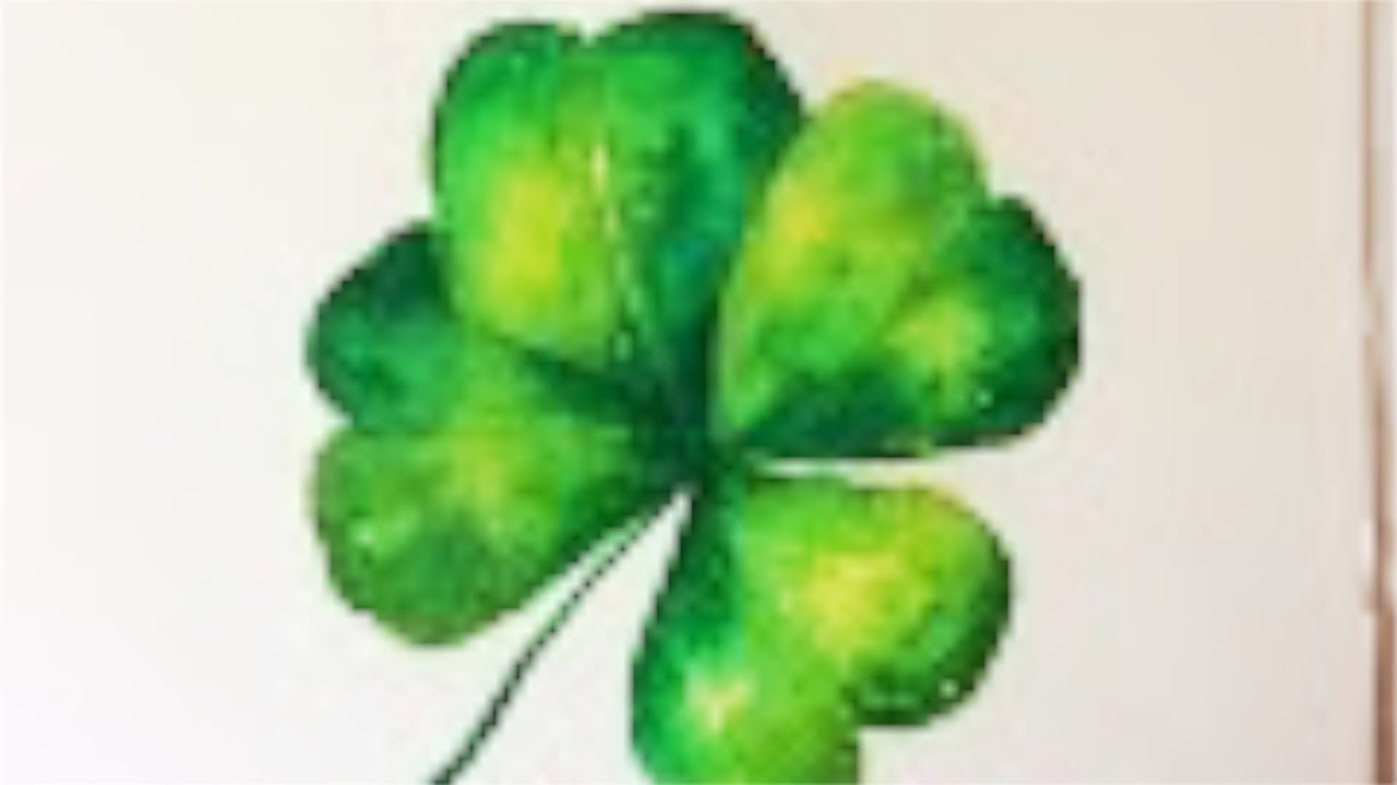 1280x720 Four Leaf Clover Watercolor Tutorial Step By Step For Beginners