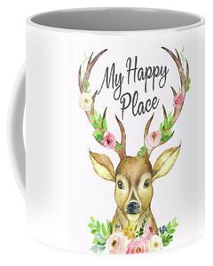 240x300 My Happy Place Woodland Boho Deer Antlers Floral Flowers