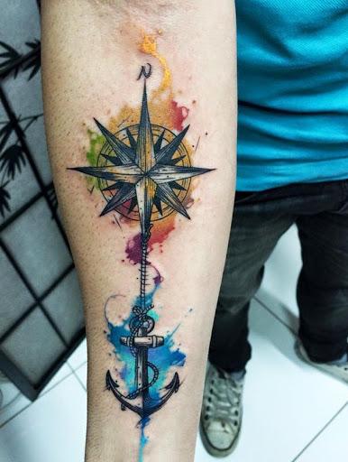 386x512 50 Best Compass Tattoo Designs And Ideas