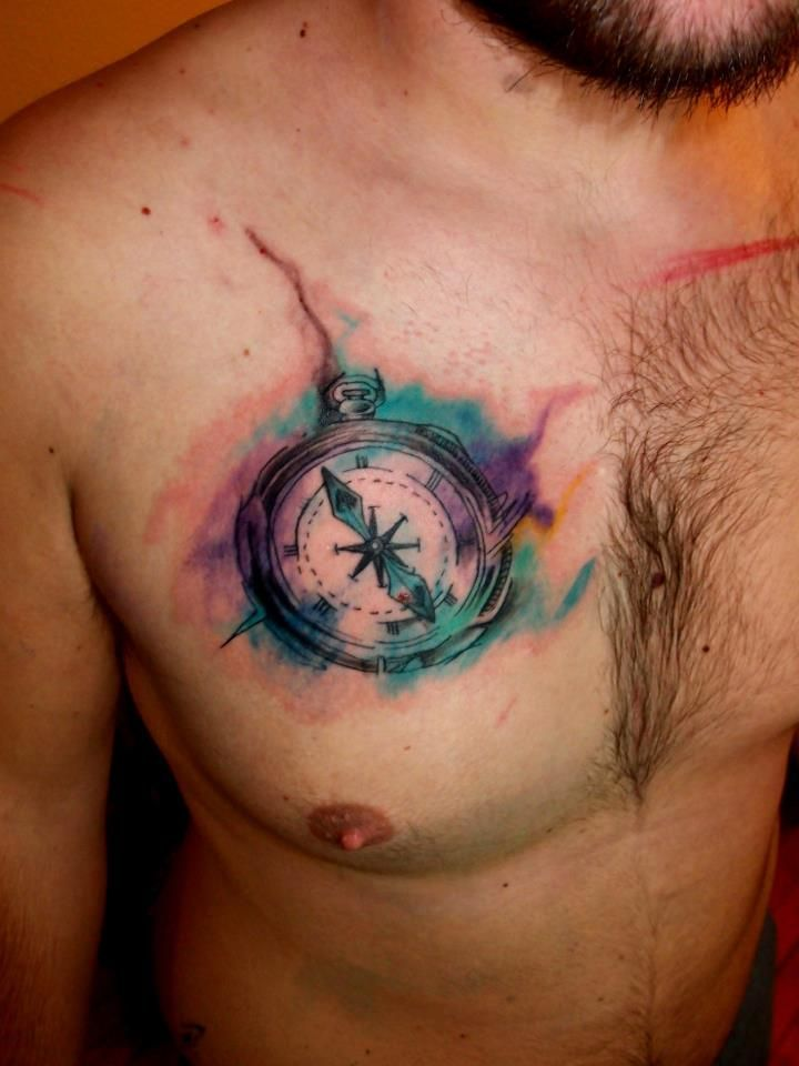 720x960 Watercolor Tattoos Compass Ideas