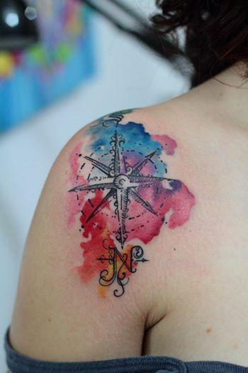 350x525 Rosa Dos Ventos Tatuagem