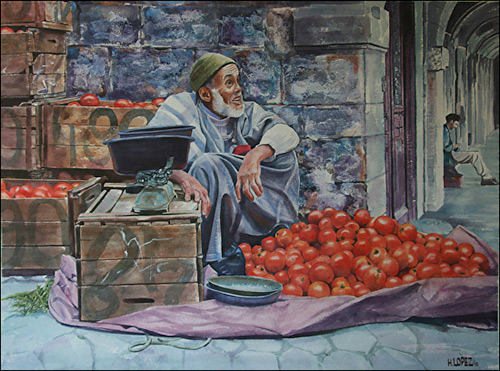 500x371 Hugo Lopez Bolivar Realistic Watercolor And Oil Paintings