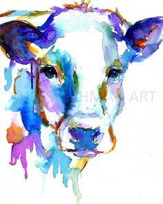 Watercolor Cow