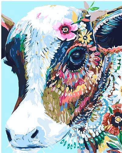 400x500 Abstract Cow Painting Abstract Watercolor Cow Abstract Watercolor