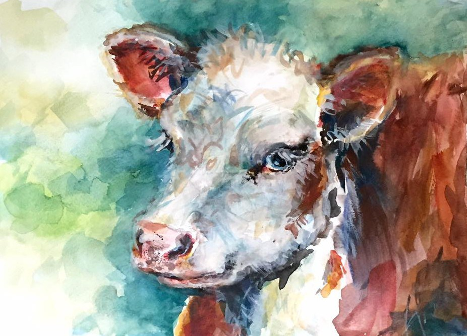 Watercolor Cow Painting At Getdrawings Com Free For Personal Use