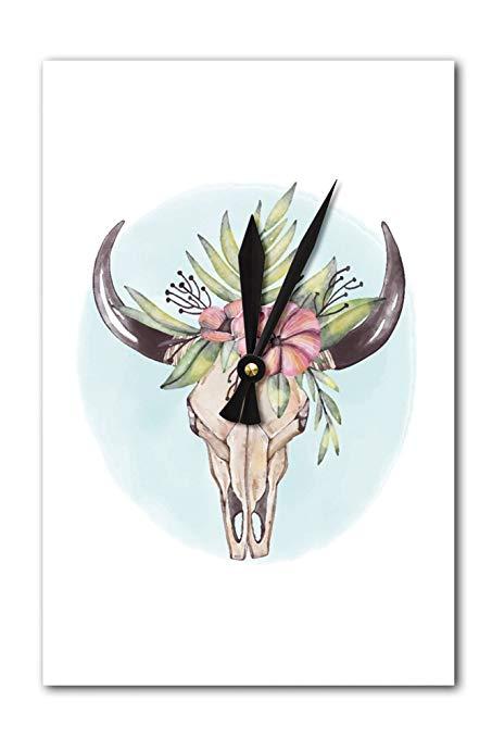 453x679 Lantern Press Cow Skull And Flower Crown