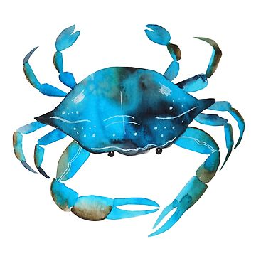 360x360 Crab Watercolor, Blue Crab Graphic Unisex T Shirt By Quotesart