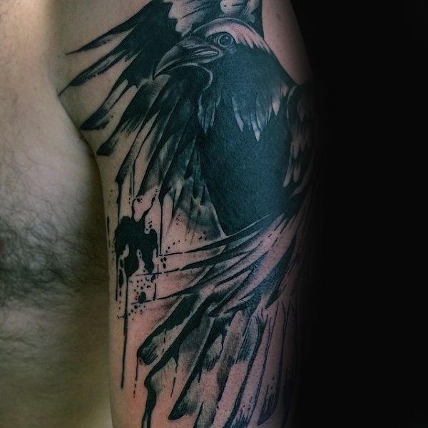 Watercolor Crow Tattoo At Getdrawings Com Free For