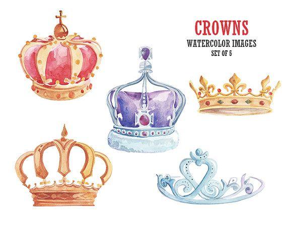 570x457 Clipart Crown Watercolor
