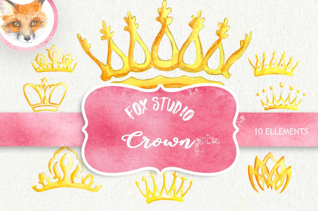1024x681 Watercolor Crown. Clipart Elements. Queen King