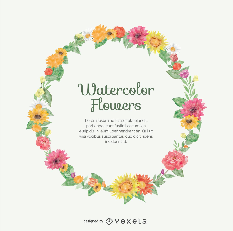 1500x1486 Watercolor Flower Crown