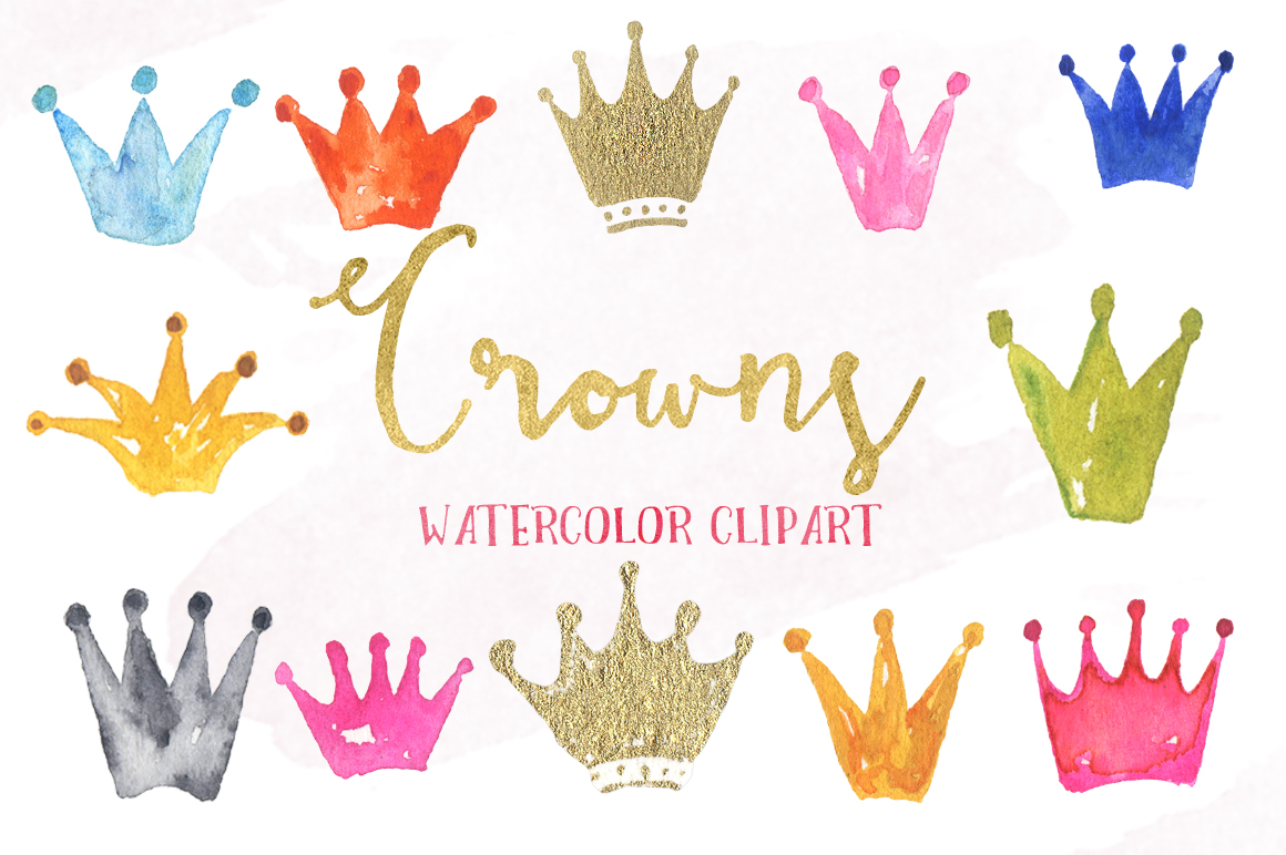1160x772 Crown Watercolor Clipart By Labfcreations