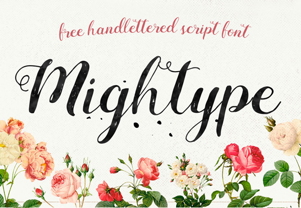 600x415 40 Best Free Brush Fonts For Designers Fonts Graphic Design
