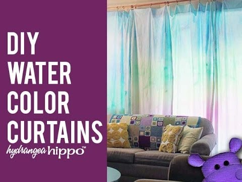 480x360 Diy Watercolor Curtains