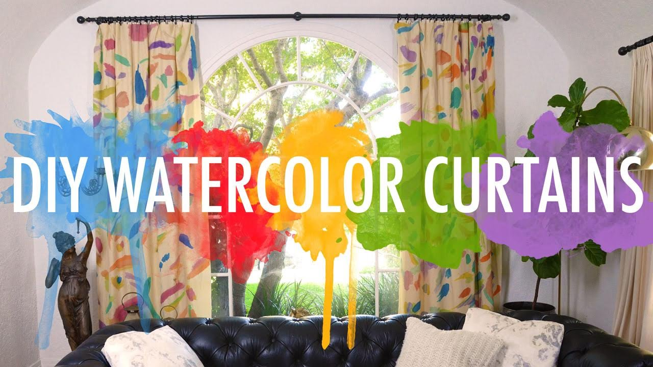 1280x720 Diy Watercolor Curtains Mr Kate