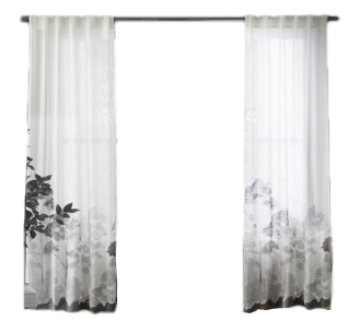 329x305 Watercolor Landscape Curtain Decorist
