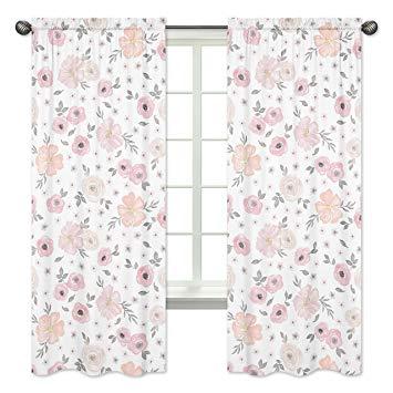 355x355 Sweet Jojo Designs 2 Piece Blush Pink, Grey And White