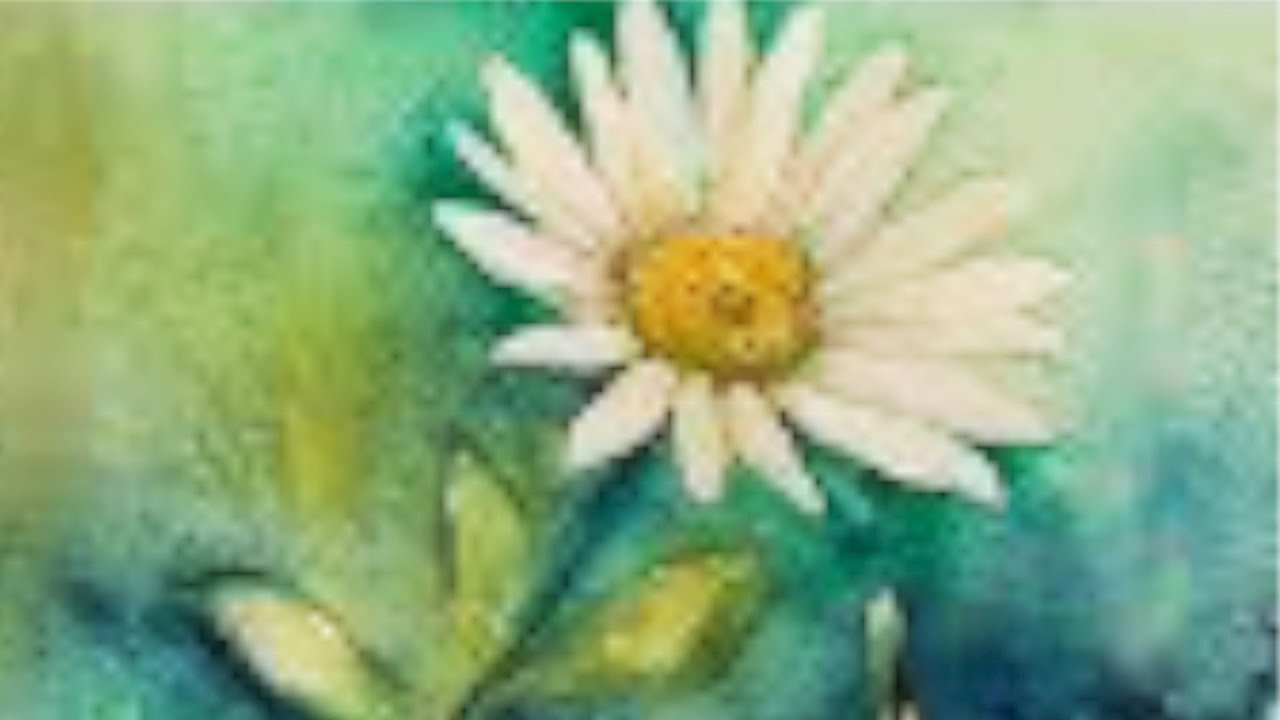 1280x720 Watercolor Tutorial (Real Time) Of A Daisy, Easy Step By Step