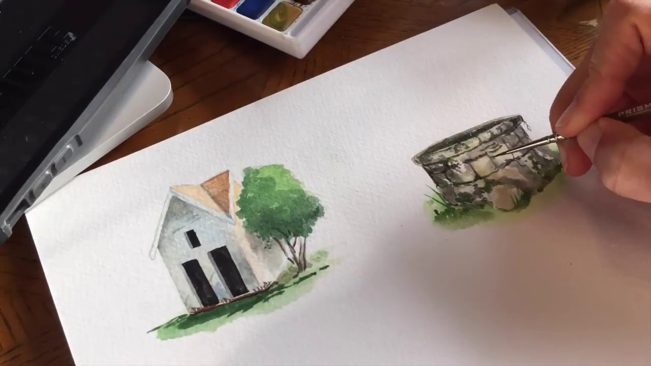1280x720 Painting Watercolor From Light To Dark