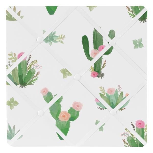 600x600 Shop Sweet Jojo Designs Pink Green Boho Watercolor Cactus Floral