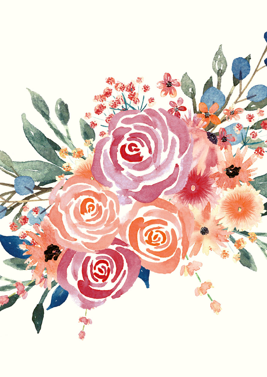 894x1264 Watercolor Florals For Graphic Design Every Tuesday