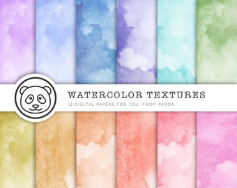 340x270 Watercolor Digital Paper Watercolor Paper With Etsy