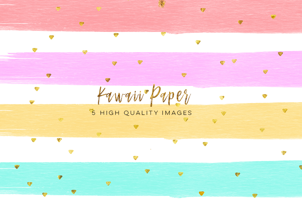 1000x667 Kawaii Watercolor Digital Paper, Digital Paper Weekly Stickers