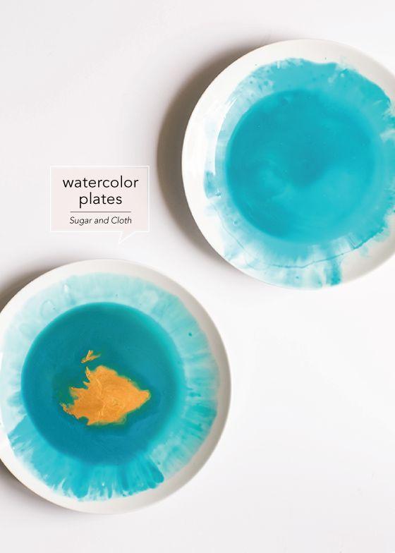 Watercolor Dinnerware