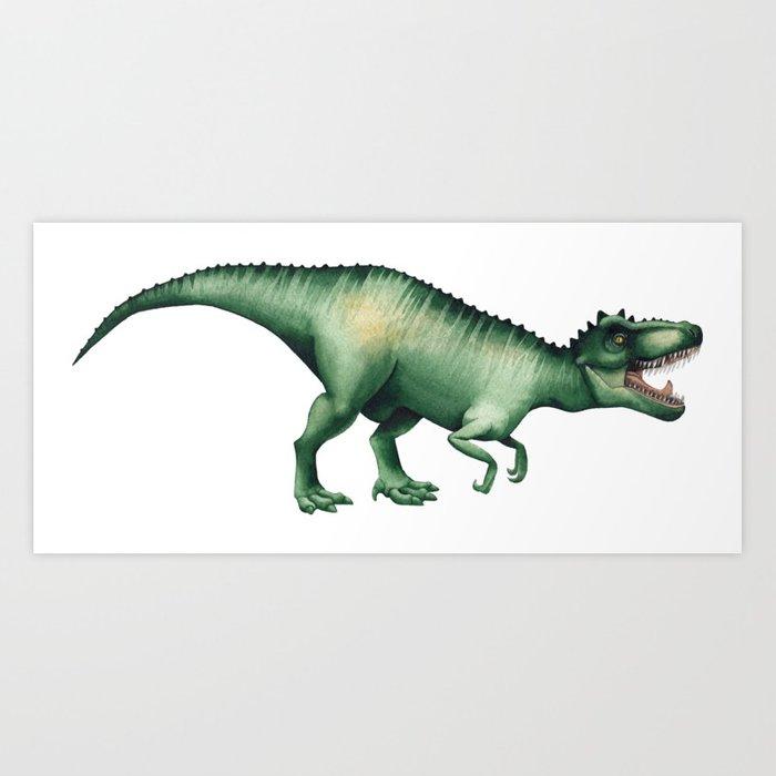 700x700 Realistic Watercolor Dinosaur Art Print By Ekaterina Glazkova